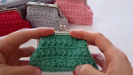 小清新的花样最受织女的喜欢,圈钩花样之小半菊,钩包包帽子好看