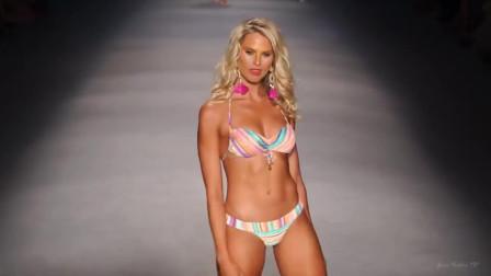 迈阿密泳装走秀,模特造型新潮,棒极了