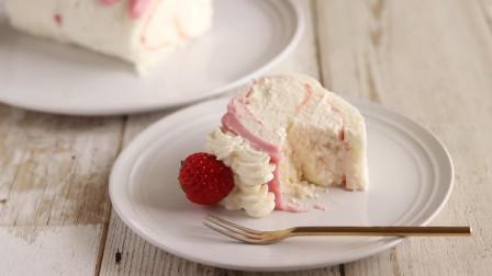 制作简单的草莓芝士蛋糕,成本不到10块钱,隔壁家小孩天天过来偷吃