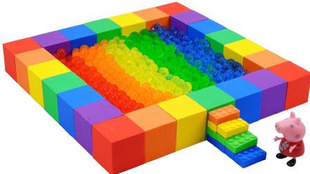手工制作彩虹蛋糕和泳池