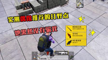 和平精英:实测水泥厂旁边的打野点,真的有信号枪!