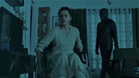 谷阿莫5分钟看完断腿怎么对抗杀人魔的电影游戏结束