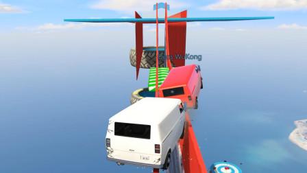 乐美解说GTA5 这张图全程按着悬停在走 完全没有刹车的小面包车