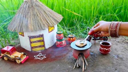 印度迷你食玩:用烟熏羊肉肉汁制作微型烤面包片
