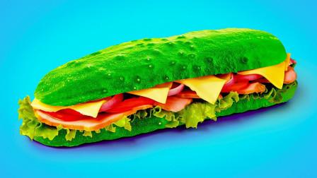 5个创意美食料理,原来黄瓜还能这样吃,脑洞也太大了