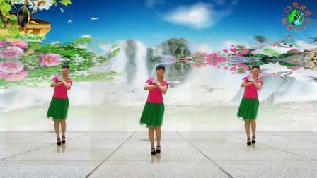 阳光美梅原创广场舞【秋风吹落一滴泪】原创三步舞-正面演示-编舞:美梅