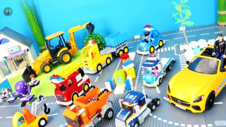 惯性玩具车,工程车自卸车翻斗车小汽车消防车故障车,儿童玩具亲子互动
