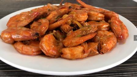大虾怎么做才好吃,简单2步,虾肉鲜嫩入味,吃过念念不忘
