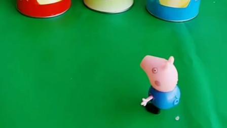 乔治偷吃薯片,猪爸爸猪妈妈佩奇看见了,他们会怎么做呢?