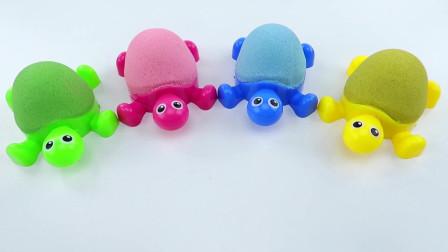 太空沙制作彩色小乌龟
