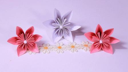 浪漫又好看的折纸樱花,折法原来这么简单