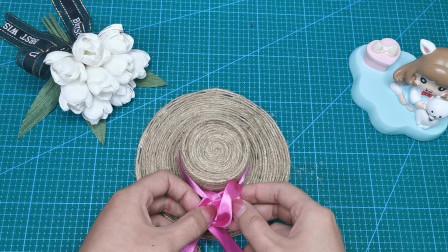 一次性纸杯可以做这么漂亮的手工品,简单几步变漂亮小草帽,装饰美美的