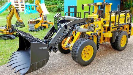 最新挖掘机视频表演10030大卡车运输挖土机+挖机工作+工程车