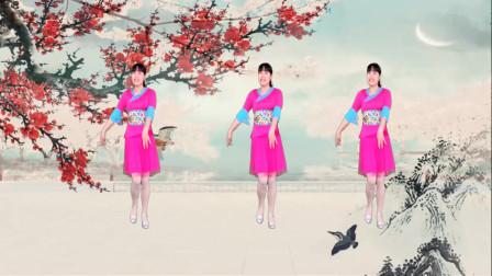 抒情广场舞《谁说梅花没有泪》简单优美32步,好听又好看