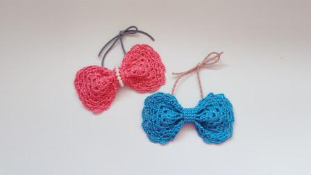 钩针编织蝴蝶结发饰DIY饰品总是乐趣的源泉毛线时尚编织