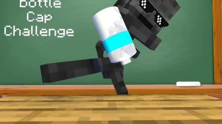 我的世界动画-怪物学院-踢瓶盖-MineCZ