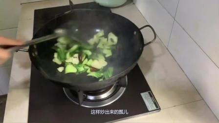 四川农家菜:炝炒瓢儿菜,做法简单色香味美