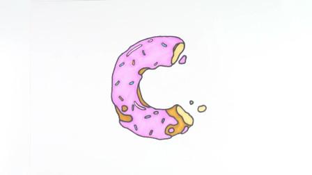 简笔画一起来画一个草莓饼干