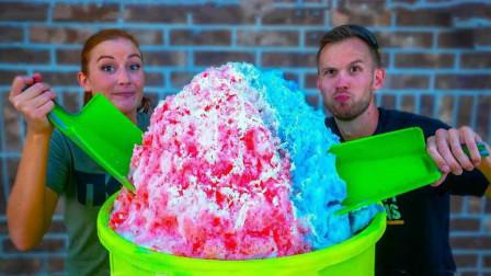 100磅的冰淇淋吃起来啥感觉?老外亲自尝试,别让大胃王看见了