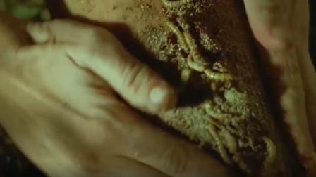 女子在雨林中腿受感染,用蛆虫治疗竟有效果 ,奇幻冒险片!