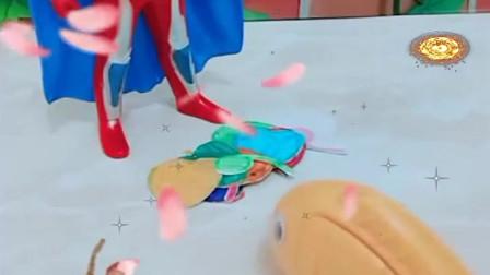益智少儿亲子玩具:奥特曼把七种爱心和6给了这条鱼,她是谁哪