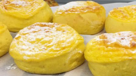 【团子的吃喝记录】上海面包房奈雪の茶:南瓜嘟嘟和咸蛋黄嘟嘟(更多图片评论在微博:到处吃喝的团子)