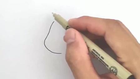 新手临摹画:适合新手临摹的彩铅画,超萌动漫人物手绘