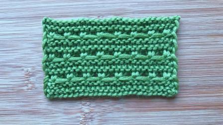 棒针实地横纹花样的视频教程,简单好学,给儿童织外套很帅气最新织法编织教案