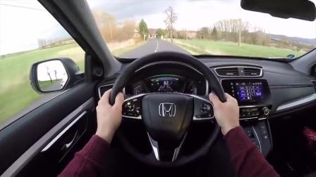 外国人试驾2019款本田 CR-V混动, 加速迅猛有力!