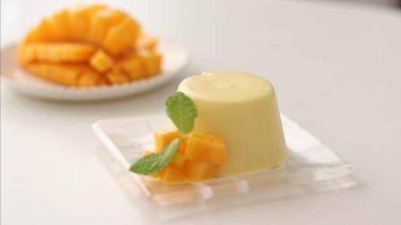 一盒牛奶一个芒果,做出孩子爱吃的芒果布丁,懒人式做法一看就会
