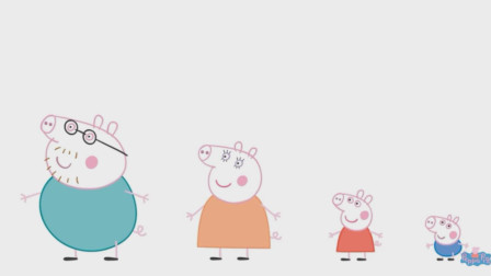 小猪佩奇一家人穿什么颜色的衣服?益智认识颜色游戏