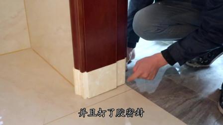 卫生间也能用实木门,只要底下做成这样,就不用担心泡水啦!