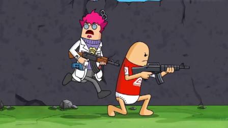 搞笑吃鸡动画:博士空降吃鸡战场游戏体验特棒,却染上网瘾无法自拔