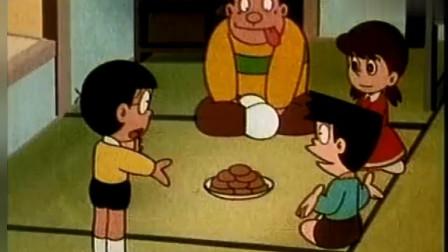 哆啦a梦:大熊用增长药让面包增长,结果吃不完