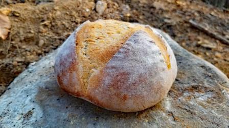 在野外烤牛肉和制作面包,网友:看完学到了