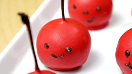DIY迷你樱桃蛋糕,谁想出来的点子,也太可爱了