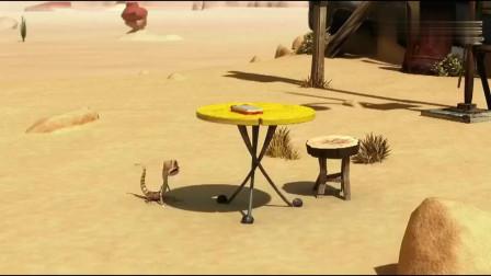 小蜥蜴奥斯卡:3个讨厌鬼分披萨吃,我一盒你一块,真是不公平!