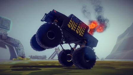 【唐狗蛋】besiege围攻 丧心病狂超高地盘悍马怪物卡车