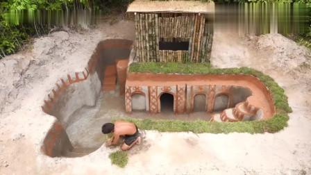 部落人土艺高超, 花半天时间独自造出露天泳池, 谁比得过