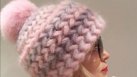 好美的一款钩针花样,用来钩帽子真美,钩帽花样之双向枣针(上)