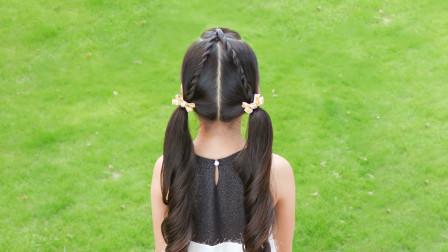 给女儿扎头发一点都不难,造型师用一种扎法就变换出两款发型