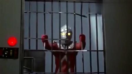 奥特曼:赛文被人类给囚禁,徒手拆掉监狱的门,成功逃出!