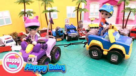 机灵宠物车:霏霏和小刚谁的电动宠物车力气大?他们正在拔河比赛