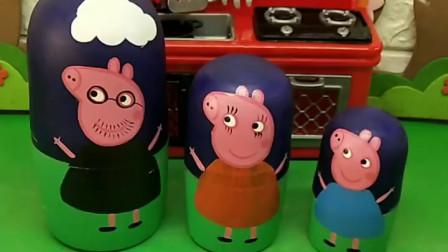 猪爸爸偷喝猪妈妈的芒果汁,还不承认,得到了猪妈妈的惩罚