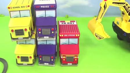 卡通街道汽车和轨道小火车玩具模型益智玩具