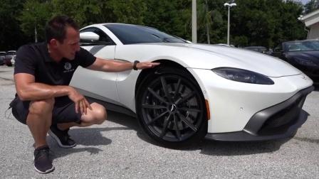 Aston Martin Vantage的侧面配有空气动力学风洞设计