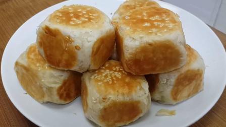 2个红薯,1斤面粉,教你简单一做,比南瓜饼做法简单,比酥饼好吃