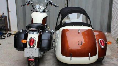 可以去摩旅的边三轮摩托车,售价12700元呆萌可爱,配倒挡和传动轴