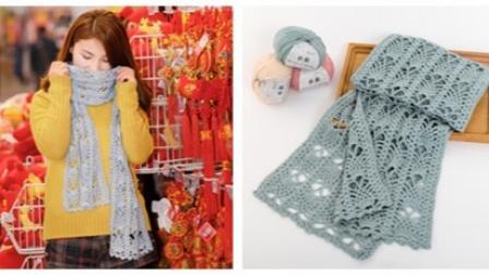 第102集 唯美菠萝花围巾的勾法视频教程 羊绒线编织