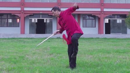 男拳师舞出最强太极单剑,耳听六路剑走八方,太帅了!